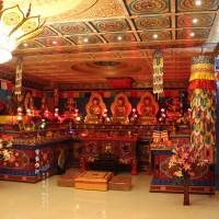 藏式佛堂设计定制 彩绘工艺一流 雕刻精美 北京佛龛工厂