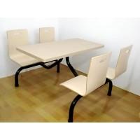 员工餐桌椅 玻璃钢餐桌椅连体四座 学校食堂饭堂餐桌椅特价批发