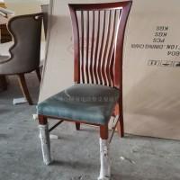 布艺复古北欧简约现代餐厅饭店家用靠背中式休闲餐椅