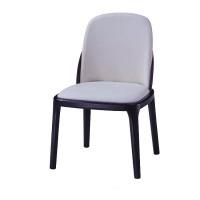 橡胶木架子酒店餐椅 现代简约软包PU皮椅子 会所饭店咖啡厅椅子