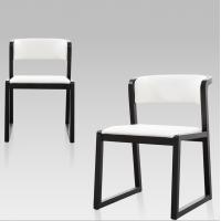 北欧简约休闲靠背椅咖啡厅实木餐椅家用椅子酒店创意西餐厅餐桌椅