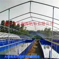 帆布养鱼池厂家直供-批发镀锌板帆布鱼池-养殖帆布鱼池图片